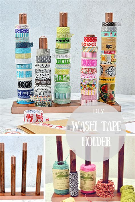 washi tape diy diy handy washi tape holder twine ribbon holder pillar