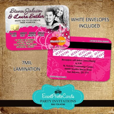 Credit Card Wedding Invitation Template 21 Best Images About Credit Card Invitations On Sweet Sixteen Wedding