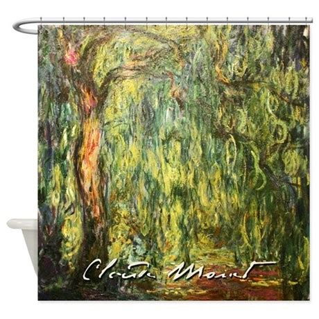 willow tree shower curtain claude monet weeping willow shower curtain by iloveyou1
