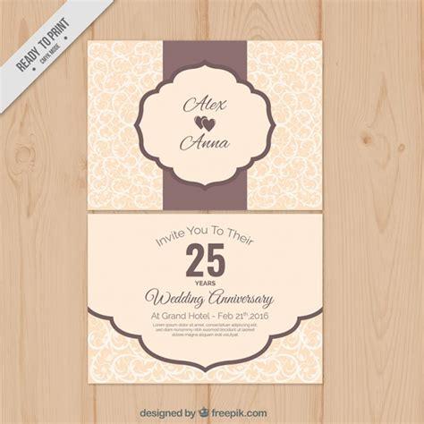 Wedding Anniversary Vintage by Vintage Wedding Anniversary Card Vector Free