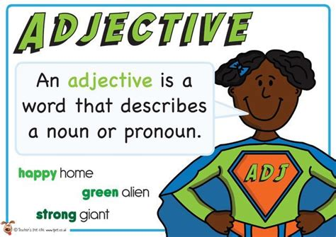 theme definition ks2 adjective superhero themed grammar resource for literacy