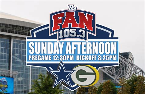 105 3 the fan listen live live blog green bay packers vs dallas cowboys dallas