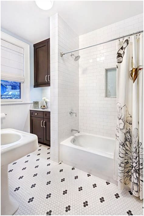 Tile Beadboard Bathroom Bathroom Transitional Beadboard Black And White Tile Floor