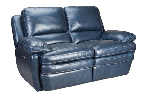 mazarine power reclining leather sofa loveseat