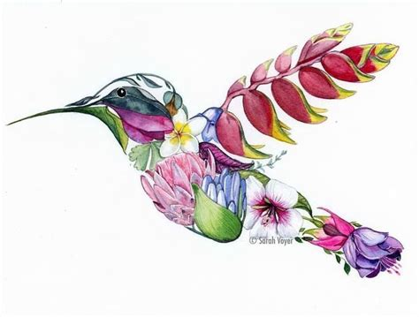 painted bird tattoo image result for hummingbird flower hummingbird