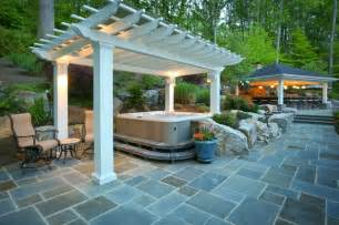 patio tub fiberglass pergola covering tub traditional patio