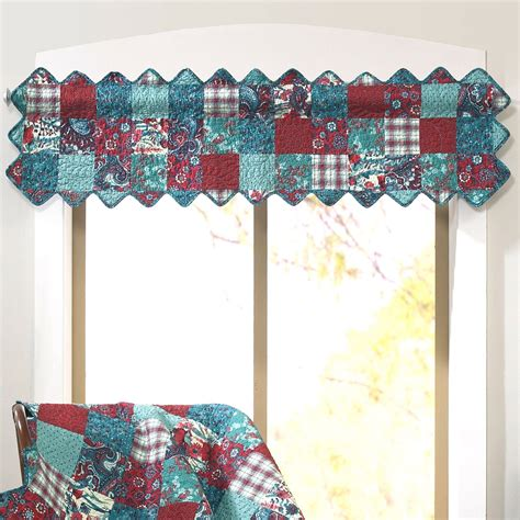 Patchwork Valance - abilene patch cotton patchwork window valance by donna sharp