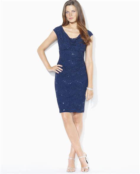 Lawren Dress lyst ralph stretch sequin lace dress