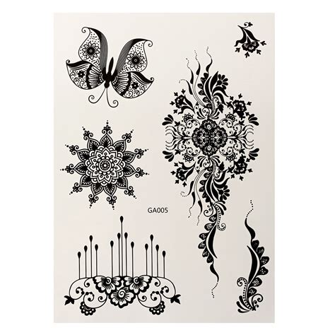 temporary henna tattoo transfer lace transfer temporary white black henna lace flash
