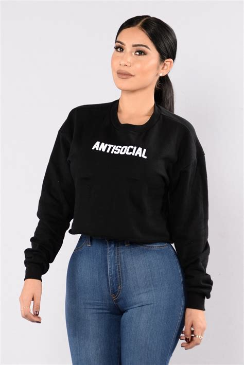 Antisocial Black antisocial sweater black
