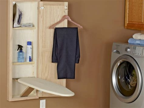 cabinet with ironing board top small laundry room storage ideas pictures options tips