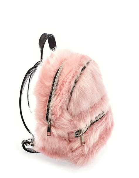 Fluffy Bag fluffy pink backpack hair makeup and clothing