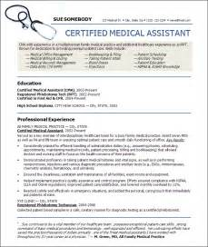 resume for certified medical assistant resumes design