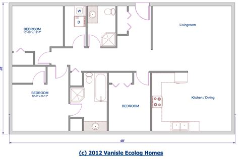 Retirement house plan 1 story 2 bedrooms open floor large