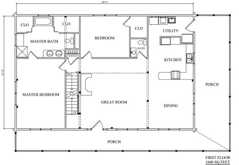 log home plan 01882 katahdin cedar log homes floor plans