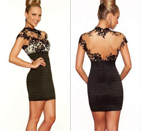 lace short dress cocktail shopstyle high neck black lace short mini cocktail dress plus size
