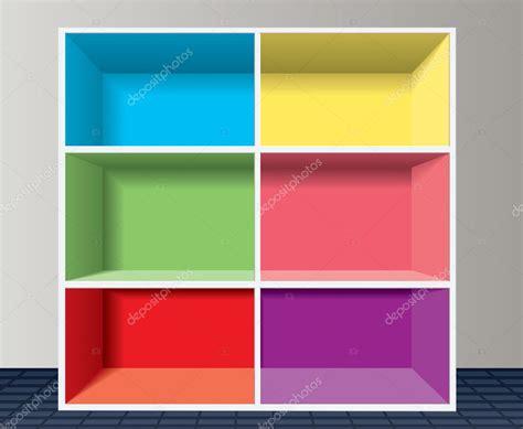 scaffali colorati scaffale colorato vettoriale vettoriali stock 169 dmstudio