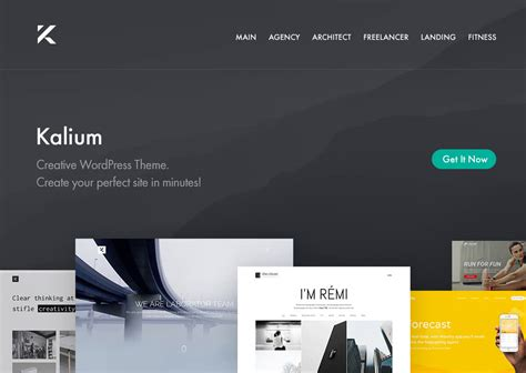 themes wordpress premium nulled kalium 2 0 3 1 creative theme for professionals nulled