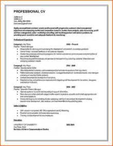 Curriculum Vitae Uk by Cv Template Download Free Uk