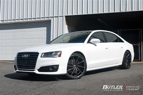 audi a8 with 22in vossen cvt wheels exclusively from