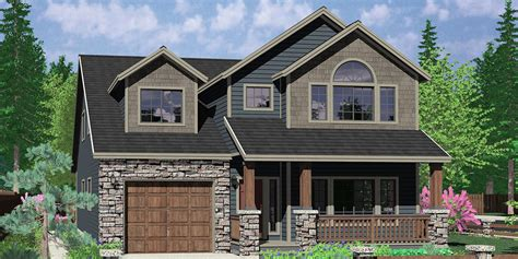 narrow house plans with garage narrow lot house plans traditional tandem garage 3 bedroom