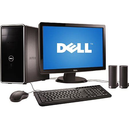 walmart desk top computers dell inspiron 570 desktop with 23 quot monitor amd athlon x4