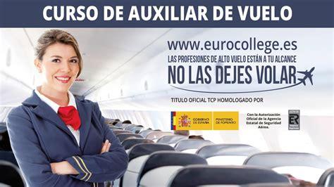 curso de tripulante de cabina curso eurocollege tripulante de cabina de pasajeros