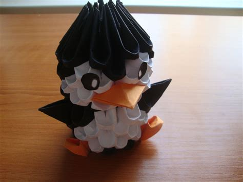How To Make A Origami 3d - 3d origami penguin tutorial doovi