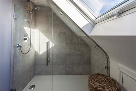 Sloped Ceiling Shower by Fitting A Shower Enclosure A Sloping Ceiling Skylofts