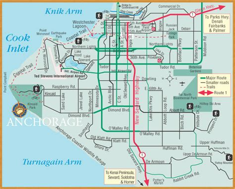 anchorage map get an alaska map maps by bearfoot guides maps of anchorage fairbanks denali alaska