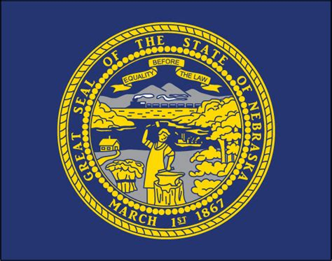 Nebraska The 37th State by Free State Flag Clipart