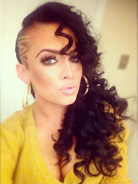 curly shaved side hair 23 most badass shaved hairstyles for women design
