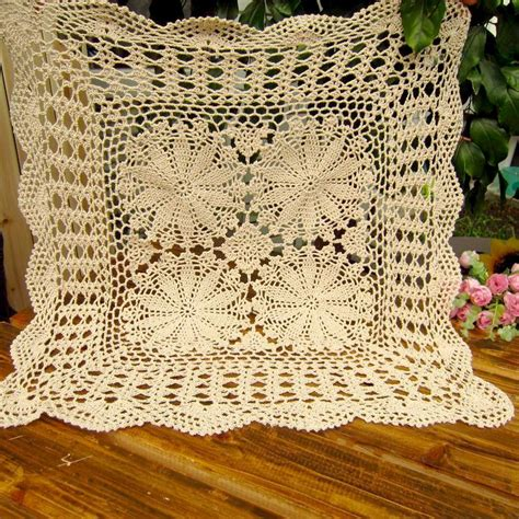 crochet sofa cover handmade cutout crochet knitted sofa cover american