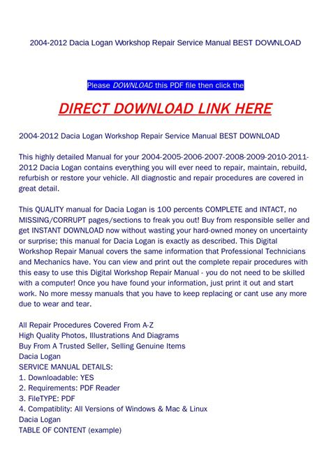 service manual service repair manual free download 2004 gmc envoy xl navigation system 2004 2004 2012 dacia logan workshop repair service manual best download by rock pagelarge com issuu