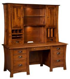 Solid Wood Home Office Desks 68 Quot Amish Executive Computer Desk Hutch Home Office Solid Wood Furniture Ebay