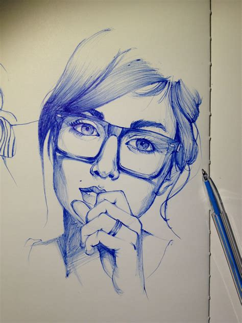 Sketches With Pen by Best 25 Ballpoint Pen Drawing Ideas On
