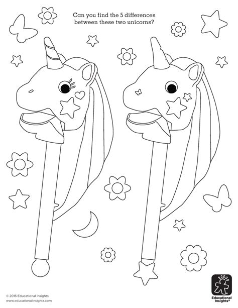 educational insights coloring pages free unicorn color by letter activity sheet beyond the