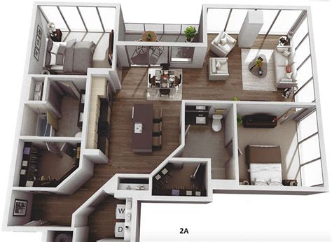 Two Story Apartment Floor Plans Museum Tower Apartments Ask For 1 805 6 750 Month In