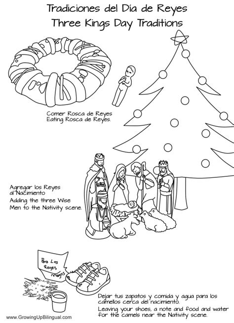 nativity coloring pages in spanish three wise men coloring page az coloring pages