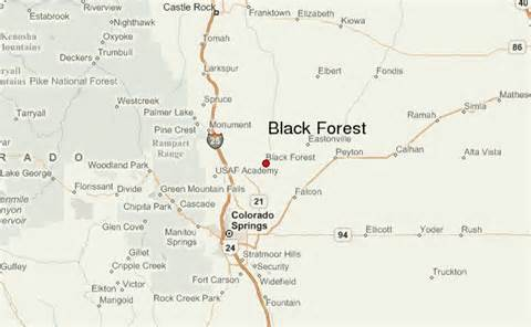 black forest colorado map black forest location guide