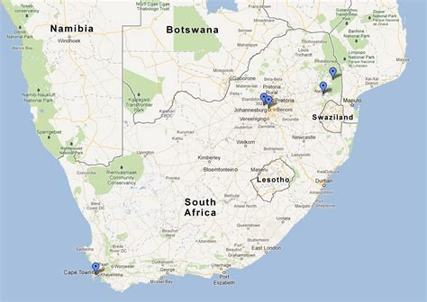 africa map johannesburg two for 66 exploring johannesburg and pretoria