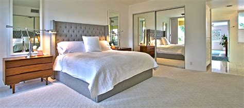 mid century modern master bedroom mid century modern country club living in palm springs