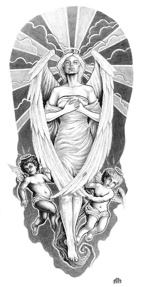 tattoo sketch angel angel and cherubs by wilson419 on deviantart