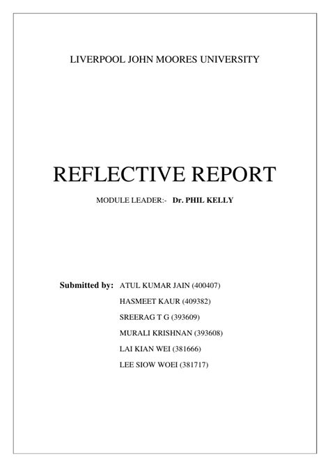 Mba Reflective Report reflection report dyson study