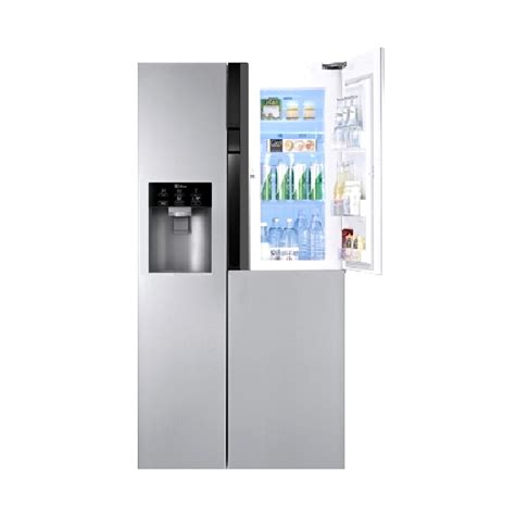 Kulkas Lemari Es Side By Side Lg Gc B247sluv jual lg gc m237jsxn kulkas inverter silver side by side