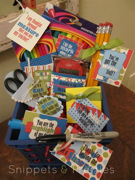 gifts for classroom snippets and pretties august 2012