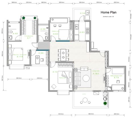 Home Design Diagram by Building Plan Software Edraw