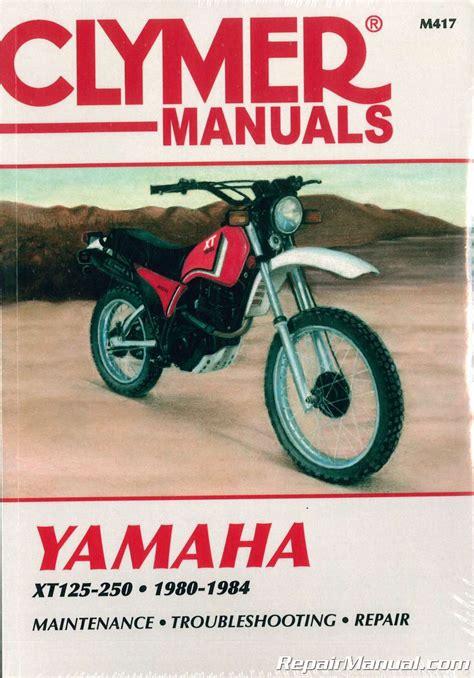 yamaha xt xt xt clymer motorcycle