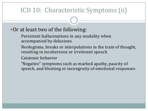 Icd 10 Code For Detox by Schizophrenia And Primary Care