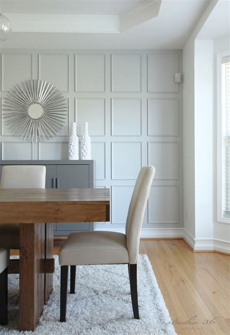 room wall wall treatment with thin moulding instead of traditional board and batten master bedroom